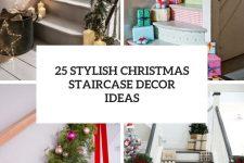 25 stylish christmas staircase decor ideas cover