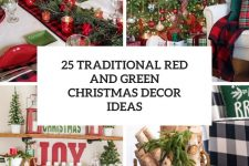 25 traditional red and green christmas decor ideas cover