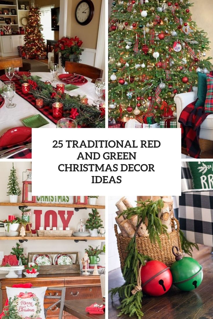 traditional red and green christmas decor ideas cover