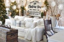 a christmas tree cluster is a trendy option for lovely decor
