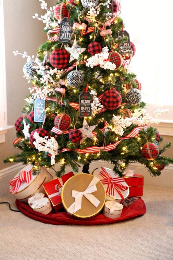 a christmas tree with cool lights