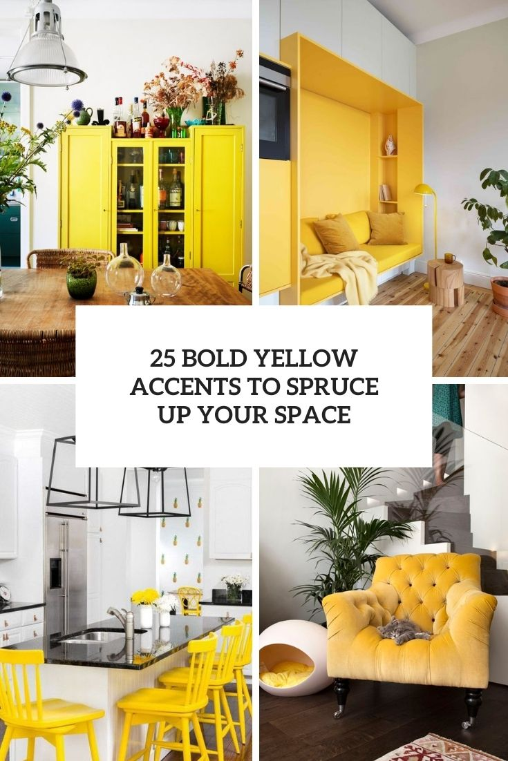 bold yellow accents to spruce up your space cover