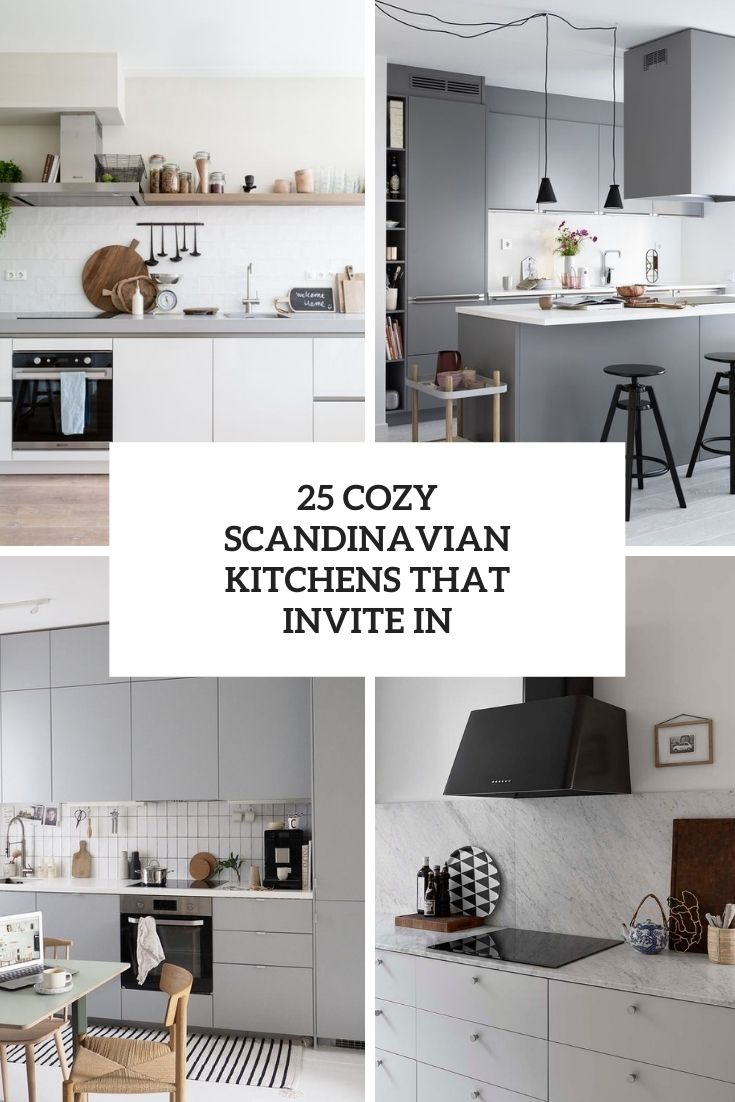 25 Cozy Scandinavian Kitchens That Invite In