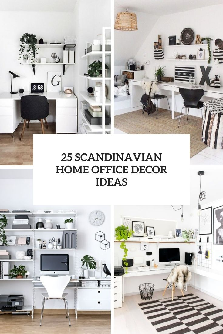 25 Scandinavian Home Office Decor Ideas