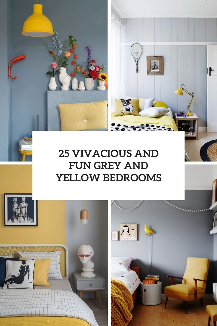 25 Vivacious And Fun Grey And Yellow Bedrooms