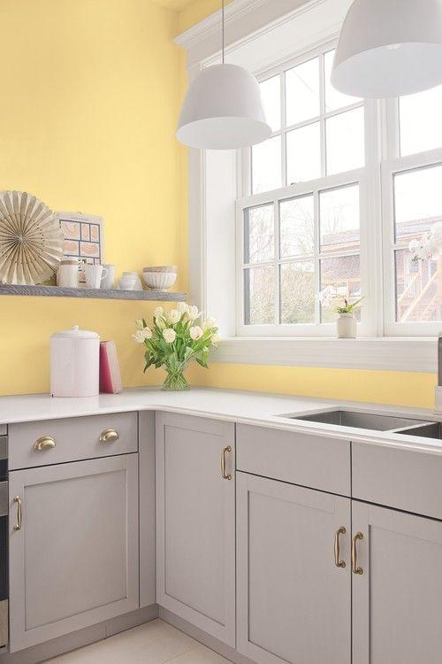 a cute grey kitchen design