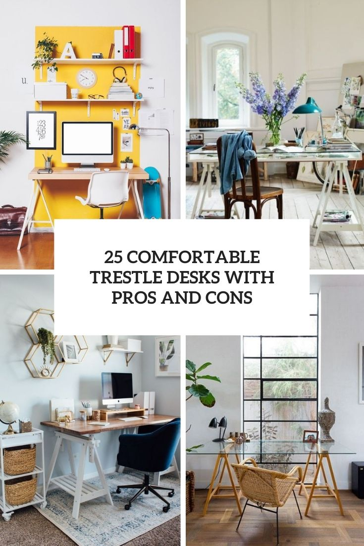 25 Comfortable Trestle Desks With Pros And Cons