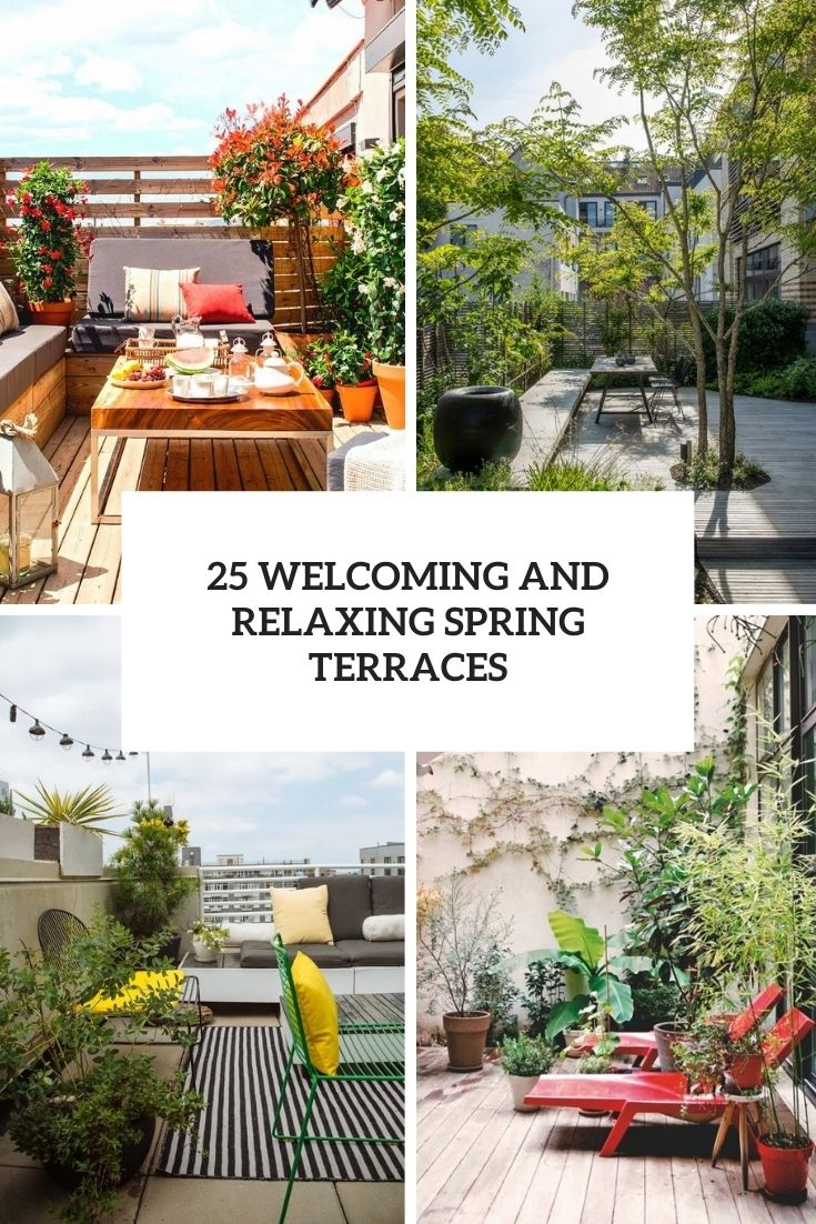 welcoming and relaxing spring terraces cover