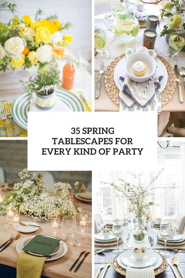 35 Spring Tablescapes For Every Kind Of Party