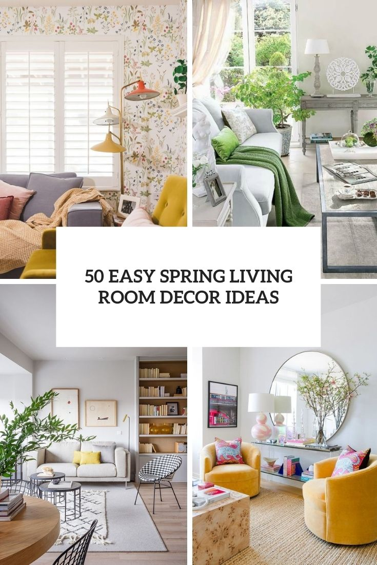 easy spring living room decor ideas cover
