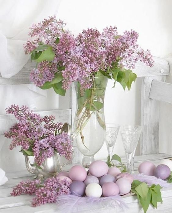 a lilac arrangement is a lovely idea of a spring centerpiece that always works and it is easy to make it