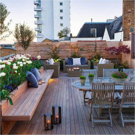 a gorgeous rooftop design