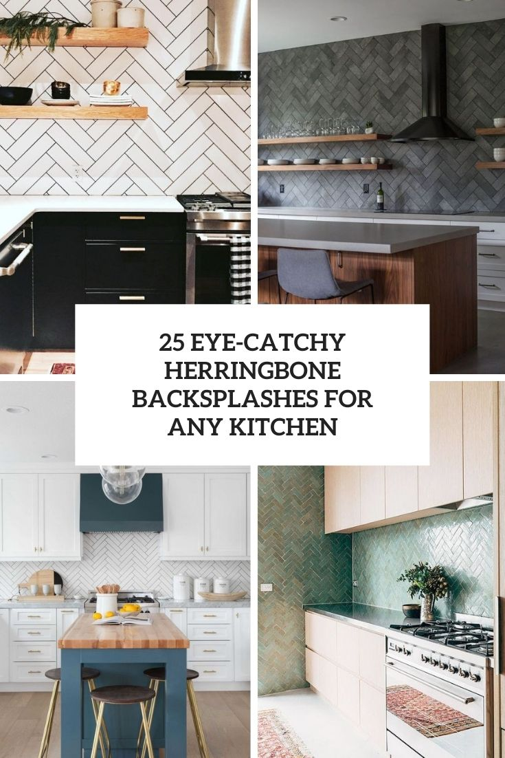 25 eye-catchy herringbone backsplashes for any kitchen cover