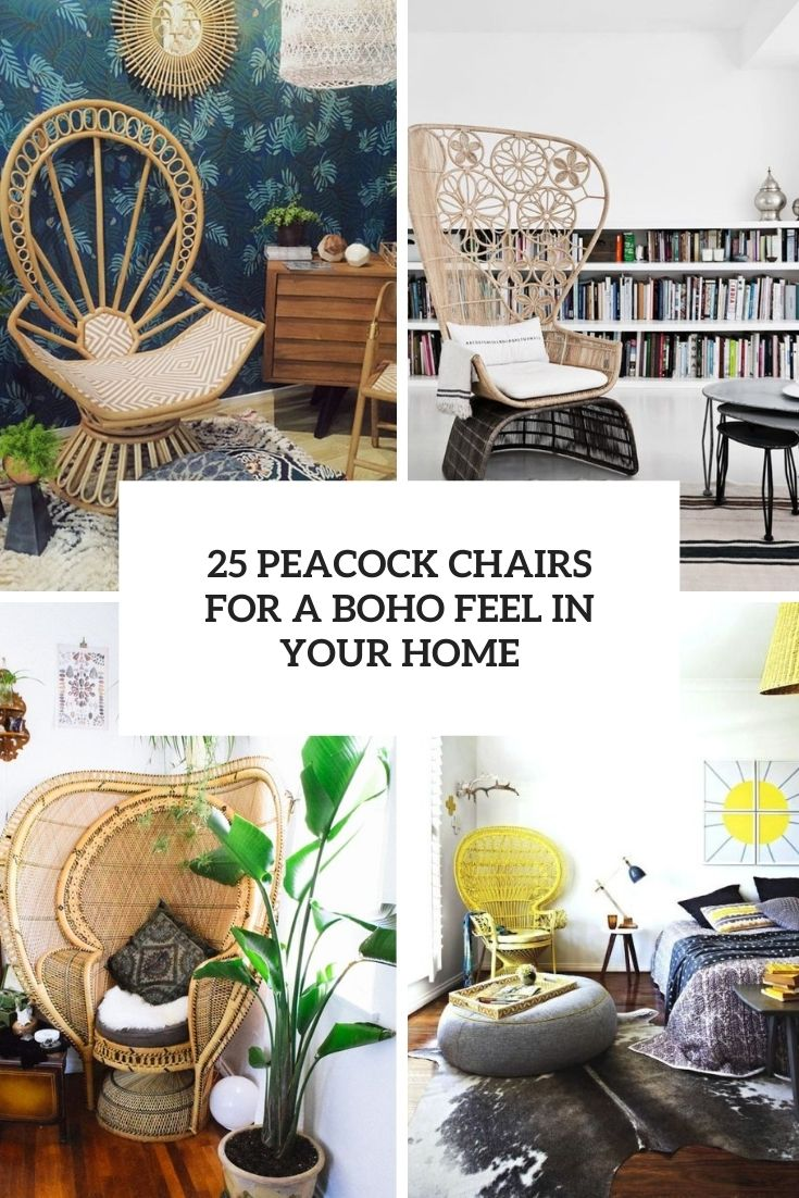 peacock chairs for a boho feel in your home cover