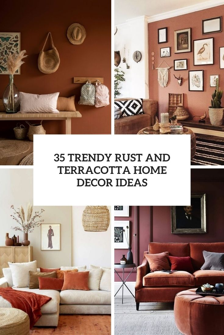 trendy rust and terracotta home decor ideas cover