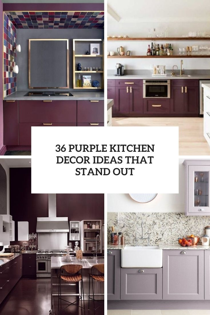 36 Purple Kitchen Decor Ideas That Stand Out