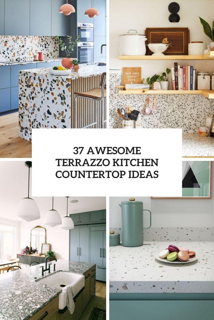 awesome terrazzo kitchen countertop ideas cover