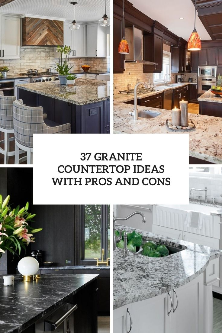 granite countertop ideas with pros and cons cover