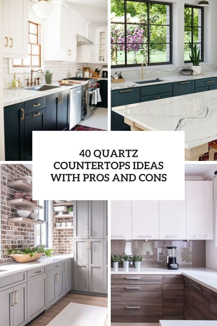 quartz countertops ideas with pros and cons cover