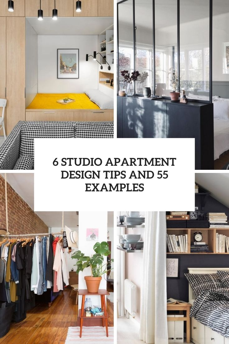 6 studio apartment design tips and 55 examples cover
