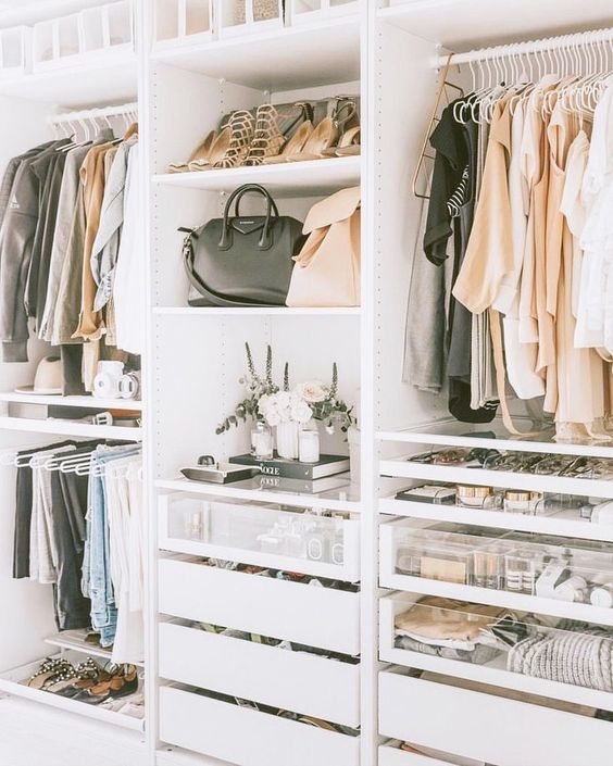 cool shelves for shoes and bags