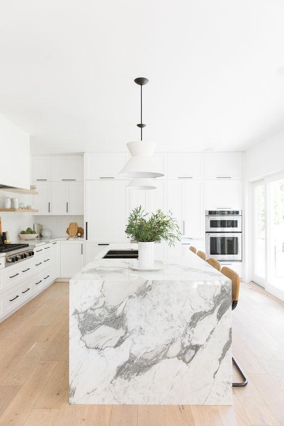a neutral white kitchen design