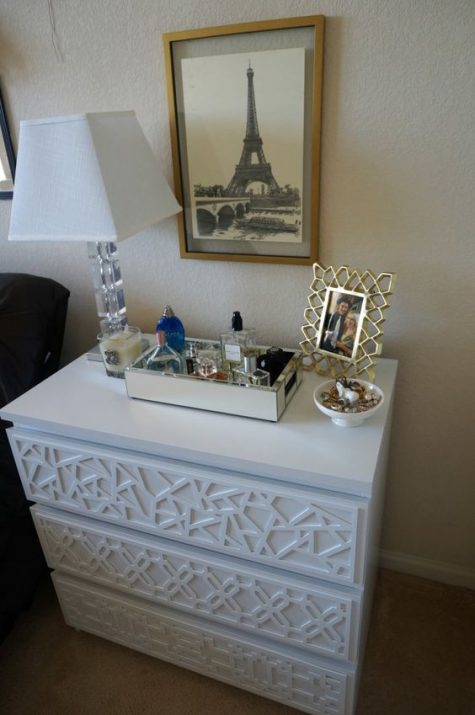 13 a chic IKEA Malm dresser hack done with white inlays is a stylish idea for many interiors, can be a nightstand