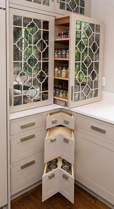 14 even if you have very small corner drawers, they can be of use, you may store cans and jars there