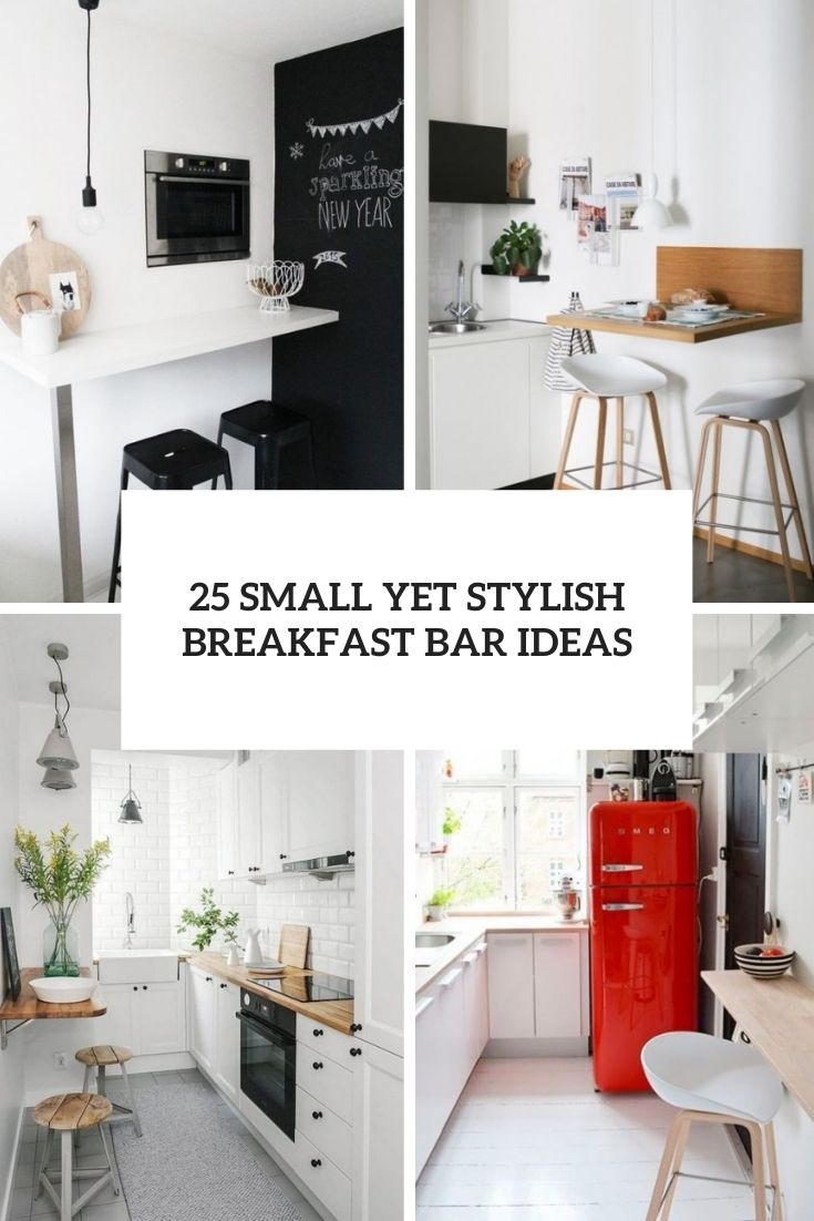 25 Small Yet Stylish Breakfast Bar Ideas