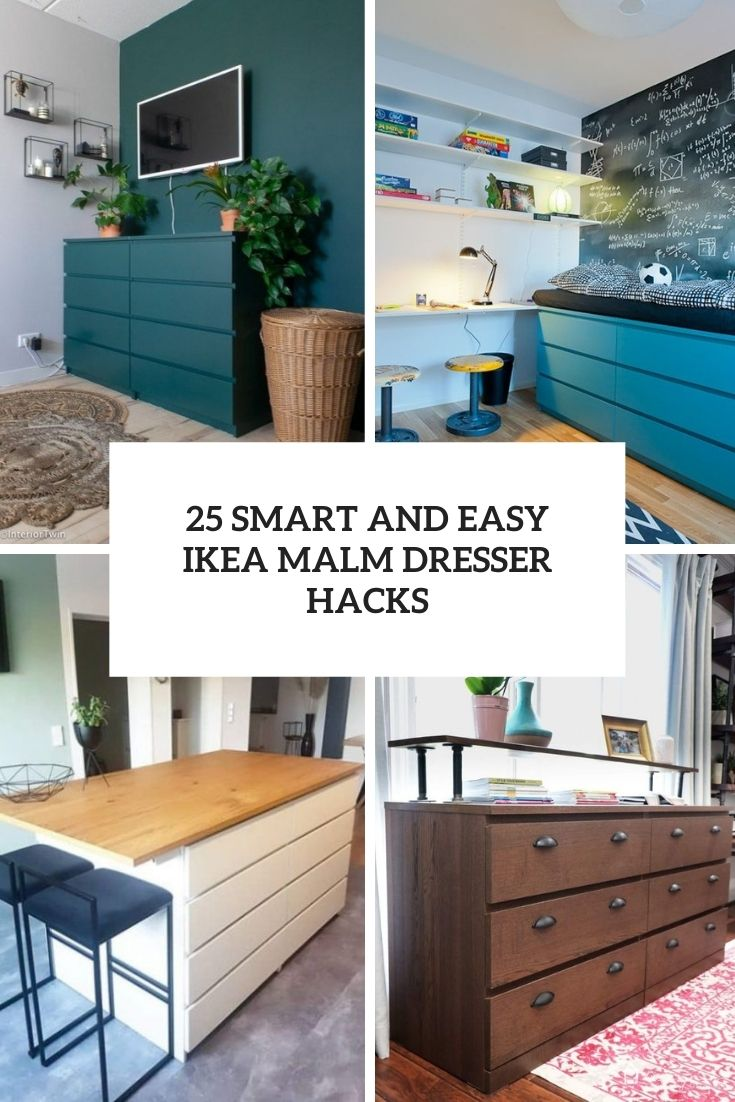 25 Smart And Easy IKEA Malm Dresser Hacks