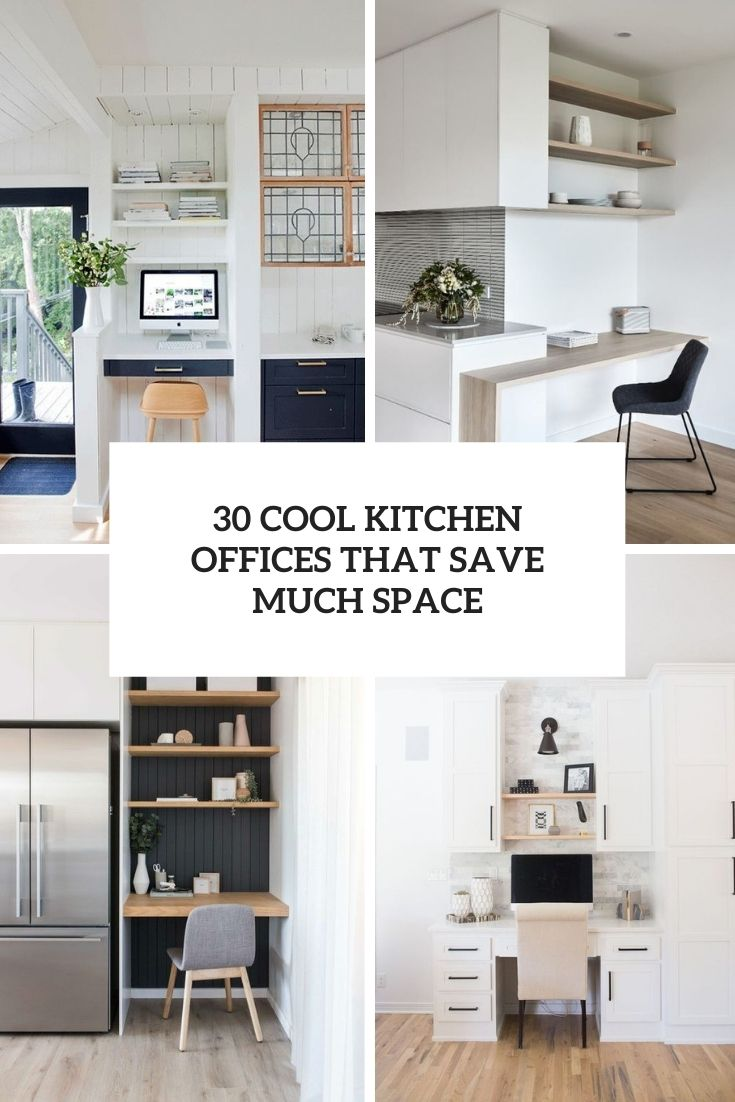 30 Cool Kitchen Offices That Save Much Space