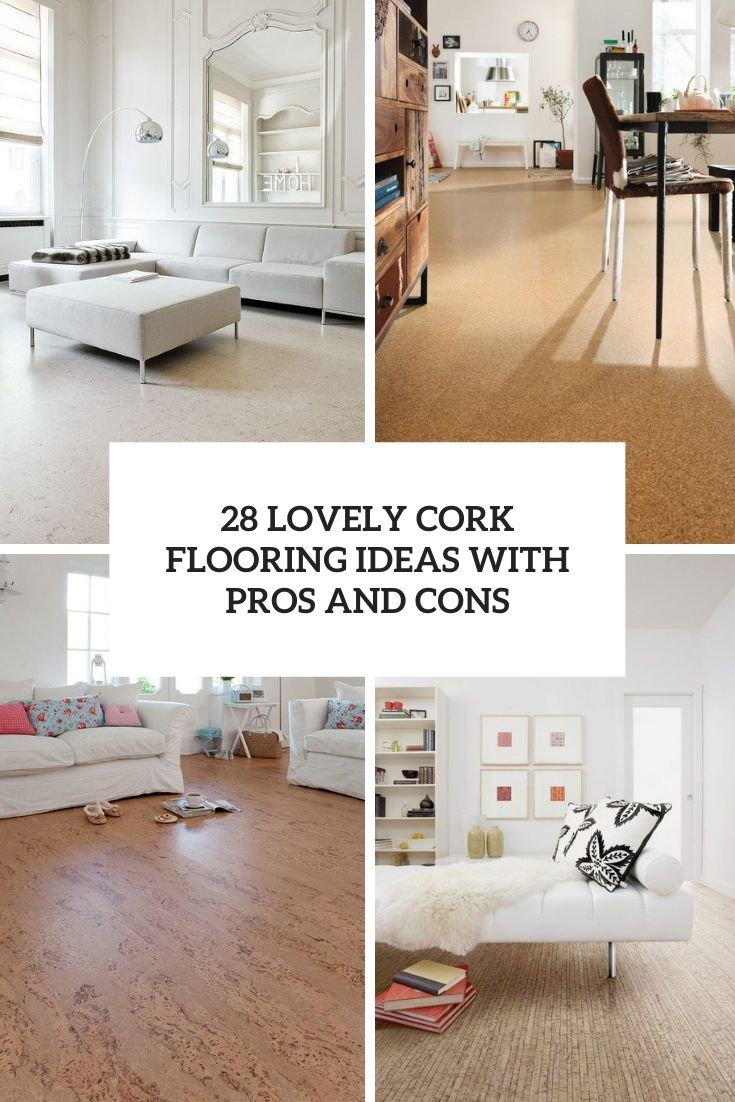 lovely cork flooring ideas with pros and cons cover