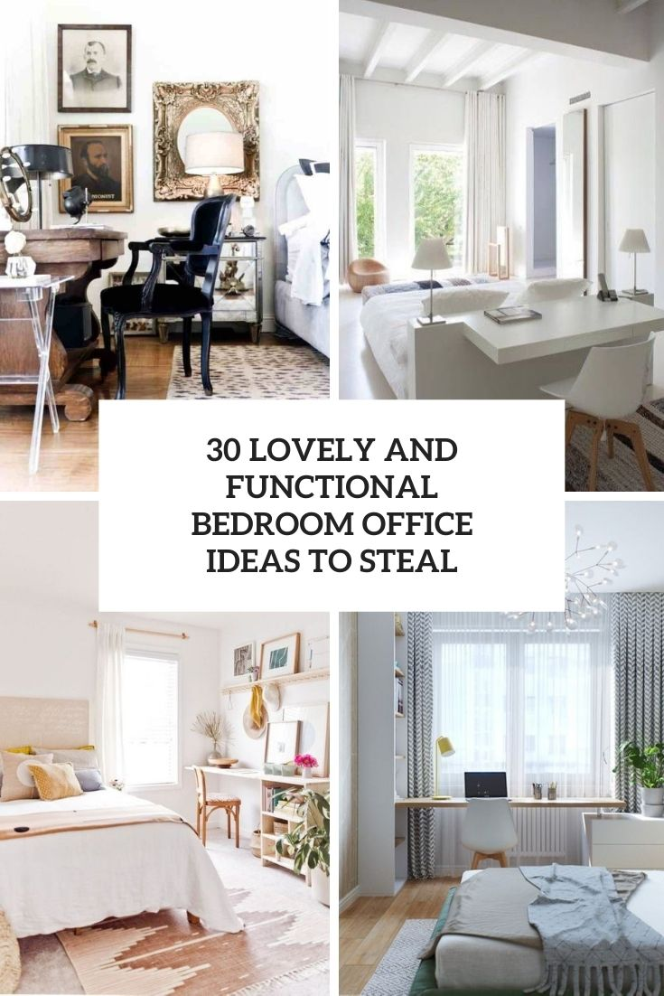 30 Lovely And Functional Bedroom Office Ideas To Steal