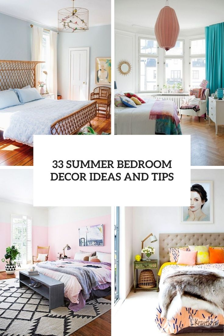 33 Lovely Summer Bedroom Decor Ideas And Tips