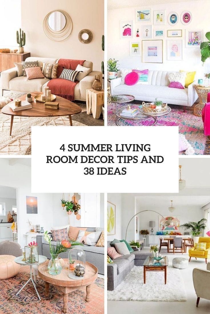 4 summer living room decor tips and 39 ideas cover