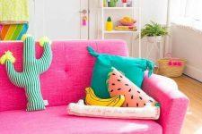 a cute summer living room design