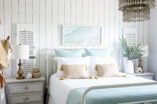 a cute beach-inspired bedroom design