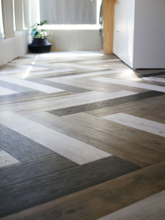 such a lovely vinyl floor will add eye-catchiness with its colors and patterns and will make your space amazing