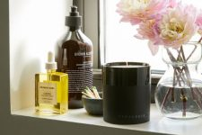 12 various home scens and a scented candle will help you create a mood and a summer feel in your bathroom