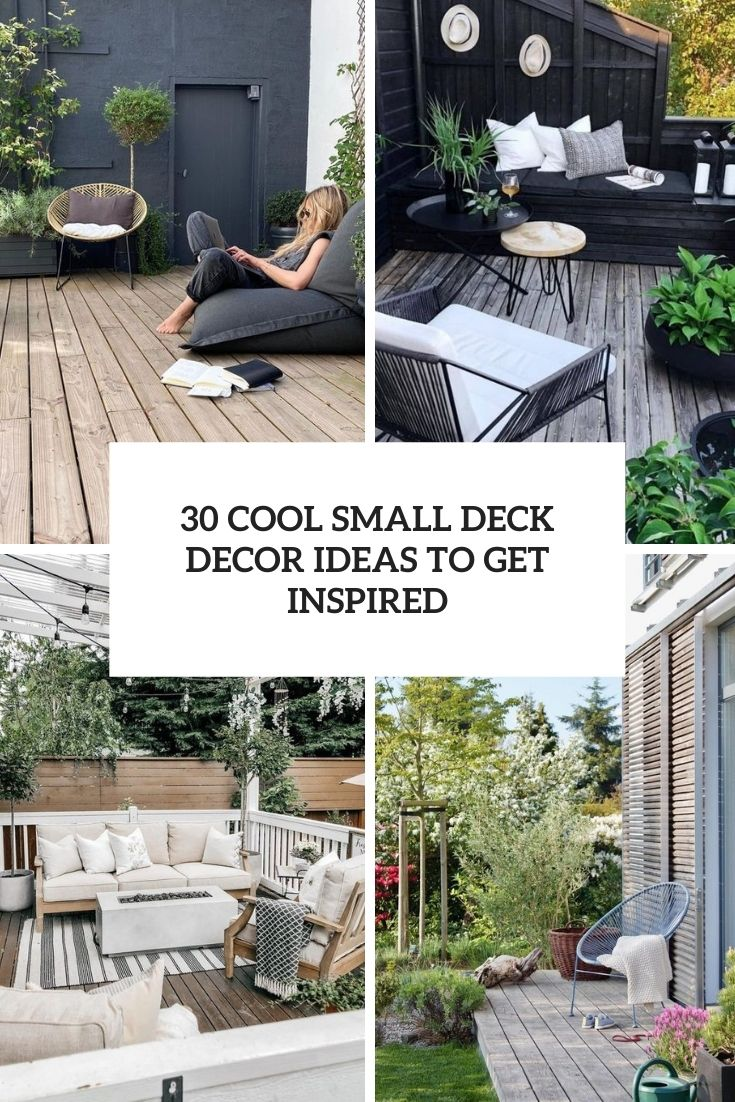 30 Cool Small Deck Decor Ideas To Get Inspired