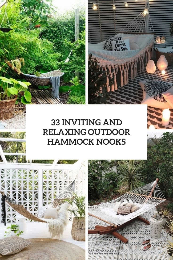 33 Inviting And Relaxing Outdoor Hammock Nooks