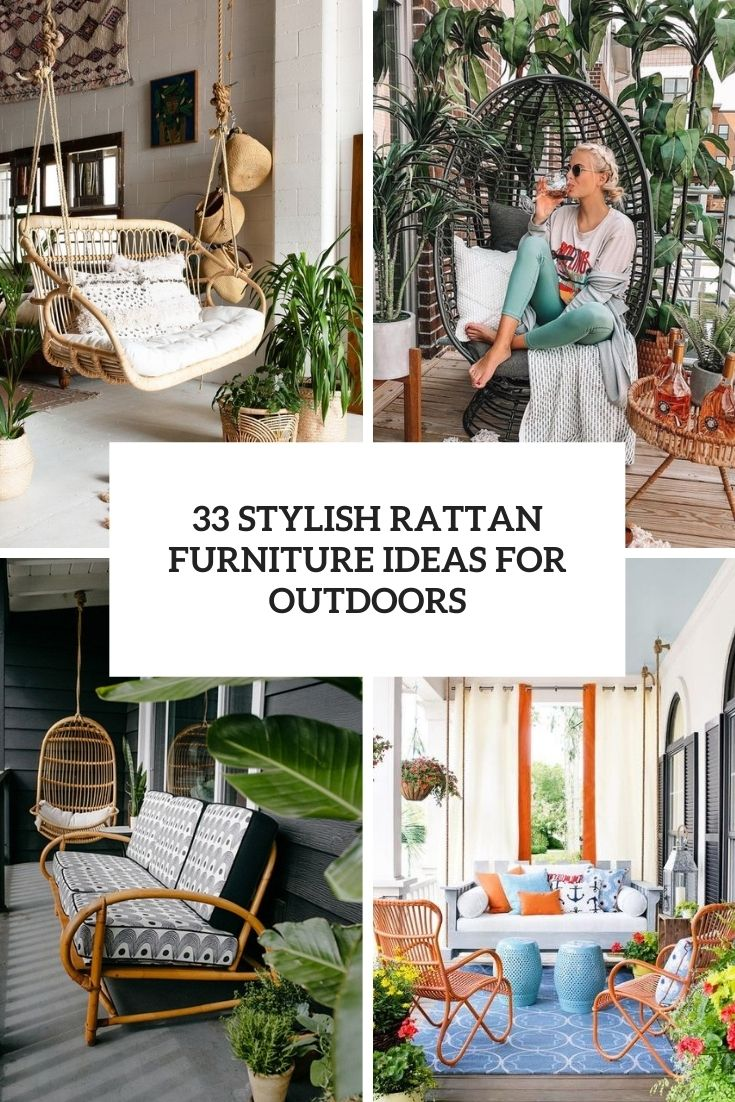 stylish rattan furniture ideas for outdoors cover