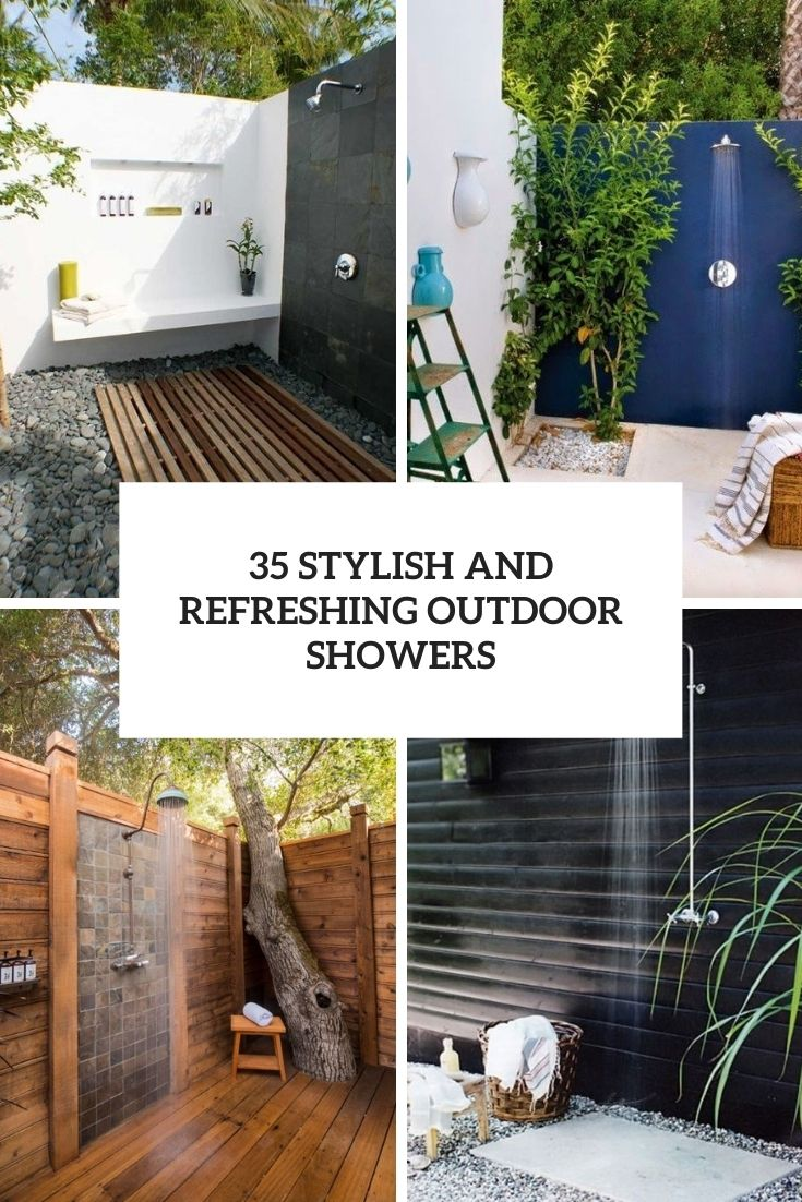 35 Stylish And Refreshing Outdoor Showers