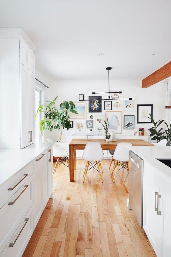 hardwood flooring is perfect for a scandinavian kitchen