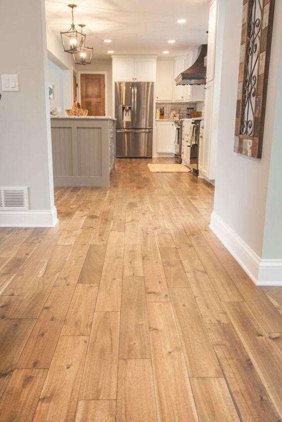 a cozy flooring for a farmhouse kitchen