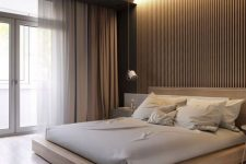 a neutral minimalist bedroom design