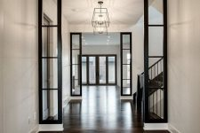 such gorgeous dark stained hardwood floors will make any space look jaw-dropping and very refined and rich
