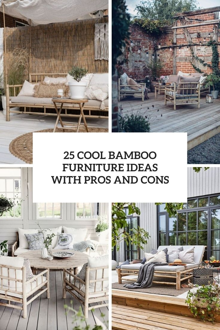 25 Cool Bamboo Furniture Ideas With Pros And Cons