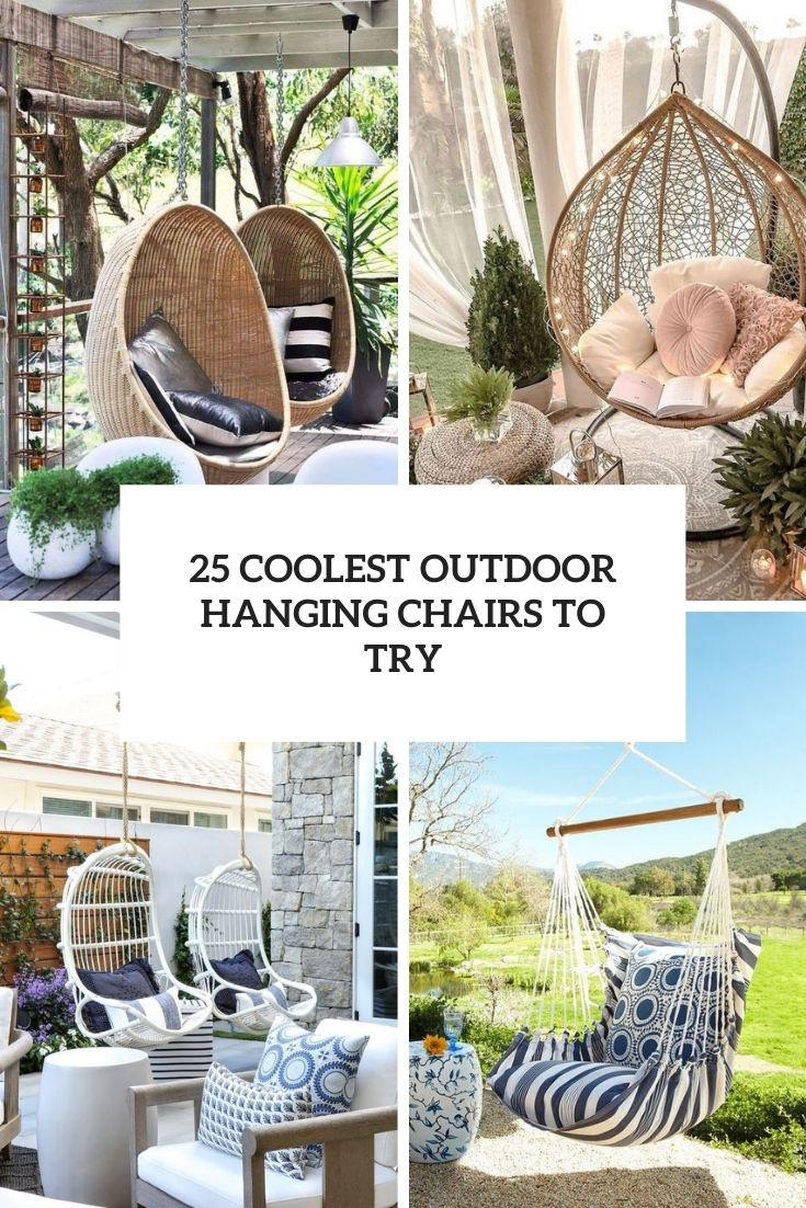 25 Coolest Outdoor Hanging Chairs To Try