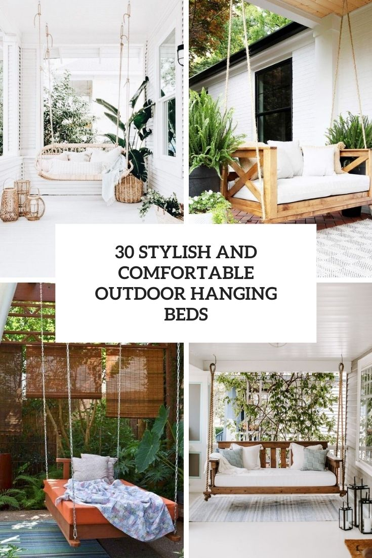 stylish and comfortable outdoor hanging beds cover